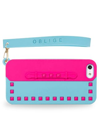 Chic, simplicity in details. Simple, colourful and cool iPhone 5 cover. Two-tone pastel shades, with stud details to add a touch of light sophistication to your days.