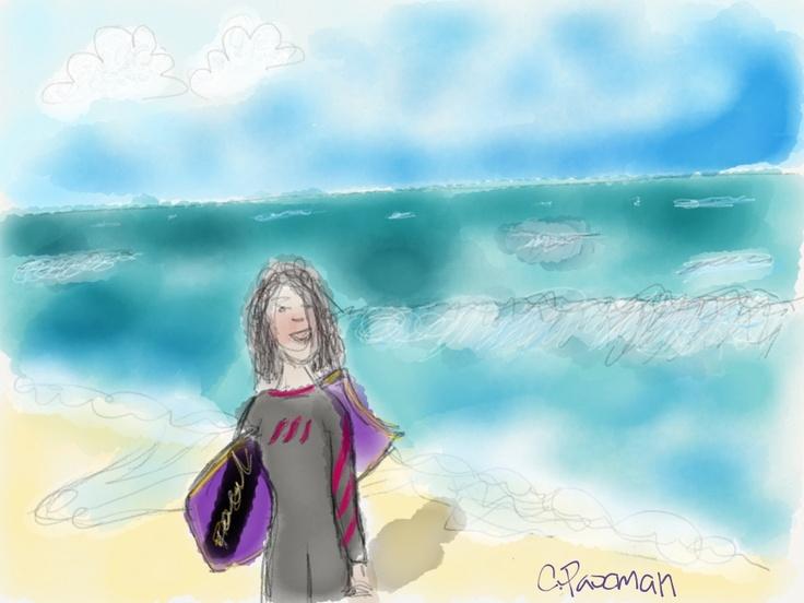 Me at the beach! yahhh!