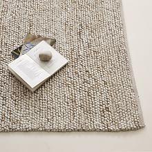 Living Room or Bedroom - Mini Pebble Wool Jute Rug - Natural/Ivory