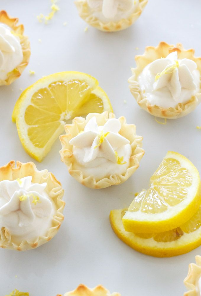 Mini Lemon Cream Pies Recipe Runners Tea Parties And
