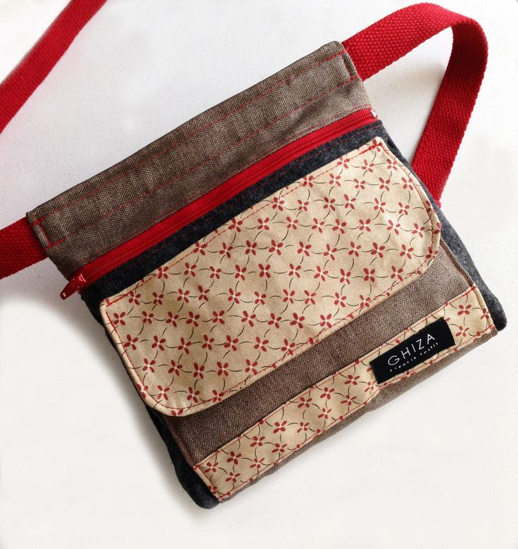 Riñonera de tela / Fabric waist bag Hecho a mano / Handmade Hecho en México