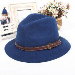 Pura lana di larghezza lungo cappello di jazz