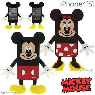 Cute 3D Disney Mickey Mouse/Minine Mouse Silicone iPhone 4 Case for iPhone 4/4S