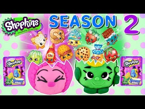 62 SHOPKINS Season 2 Blind Baskets NEW Play Doh Giant Shopkins Surprise Eggs by DCTC - YouTube