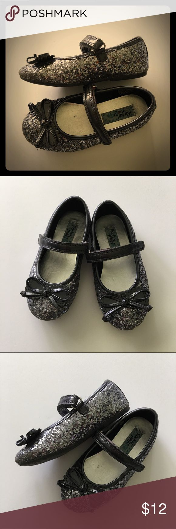 Adorable Sparkle Flats Charcoal gray sparkle flats by Rachel Shoes. They are a toddler girl size 9. They show some signs of wear but still have lots of love left in them. Rachael Shoes Shoes Sandals & Flip Flops
