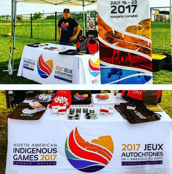 Promotional Merchandise We've Done In Support of Creating Awareness for The Indigenous Games Coming to Toronto 2017! #NAIG2017 #merchandise #torontobusiness