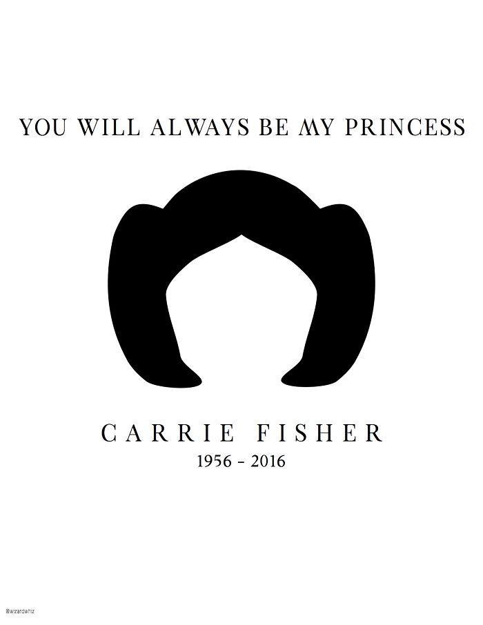 Carrie Fisher ilustraciones Princesa Leia 20