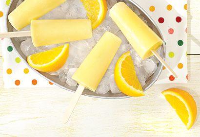 #Popsicles #orange et crème