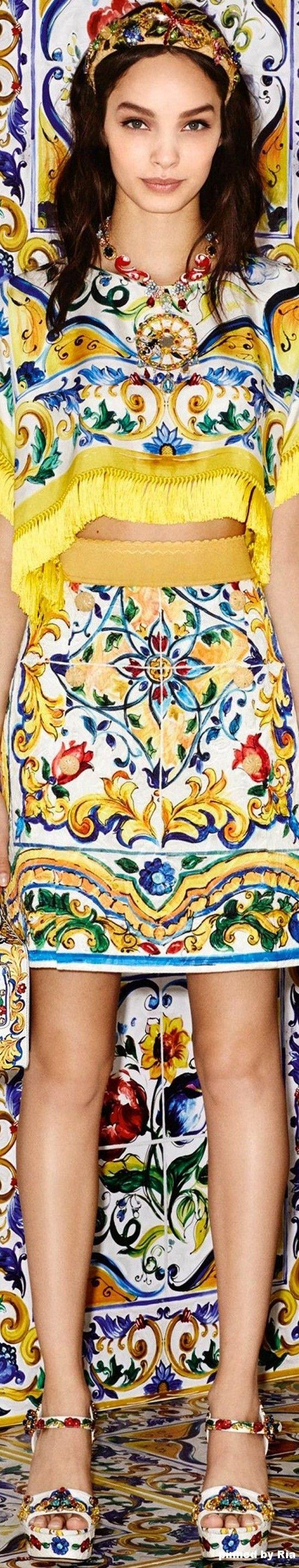 Dolce & Gabbana Majolica Collection - FW 2016-17 l Ria
