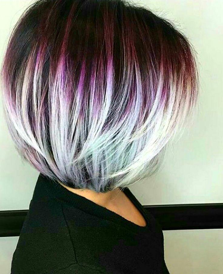 Colorful Bob hairstyle #stylish #sexy work done by @shmeggsandbaconn (instagram)