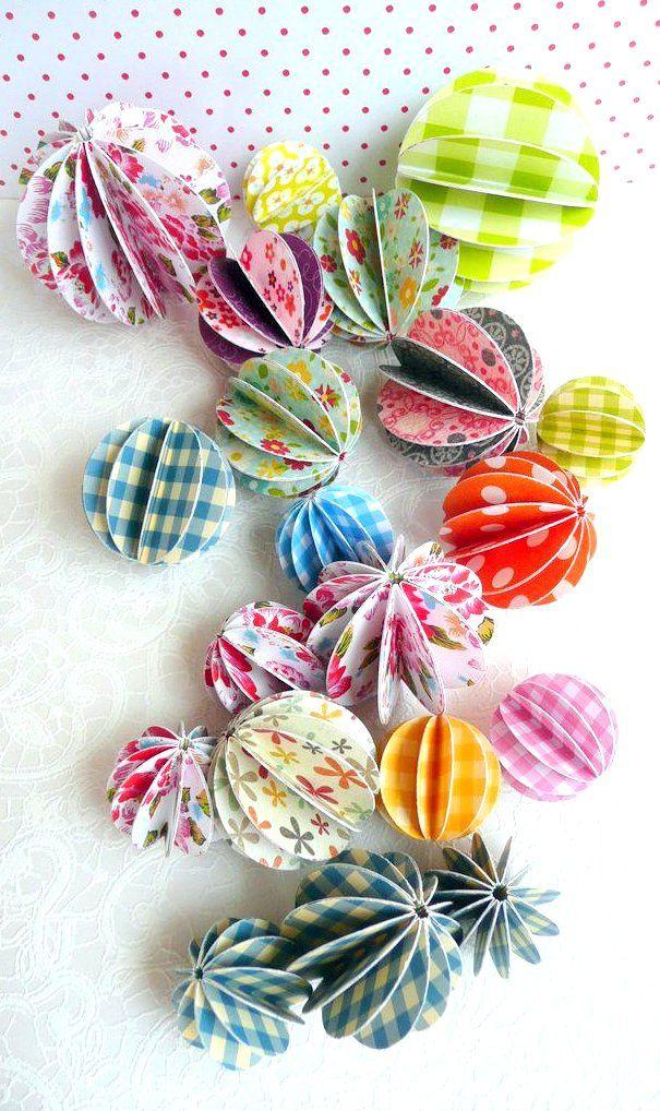 DIY paper decoration balls