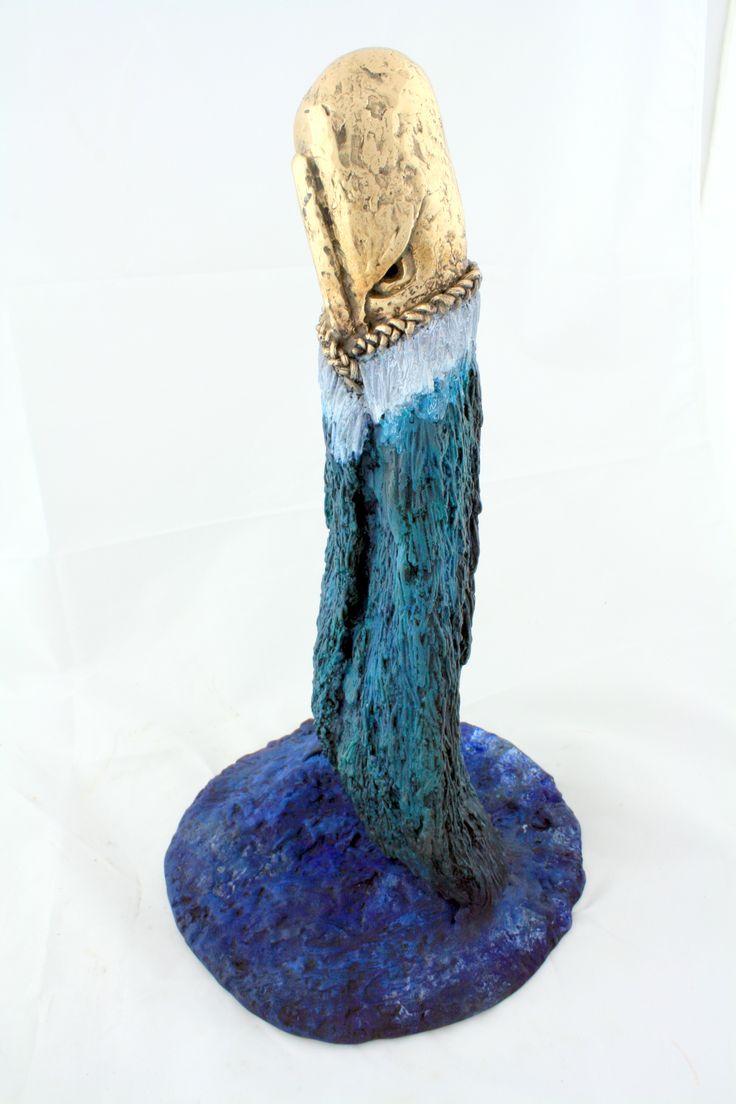 Whale Tale II .. Polished and Patinated Silicon Bronze .. Brett Rangitaawa, 2014