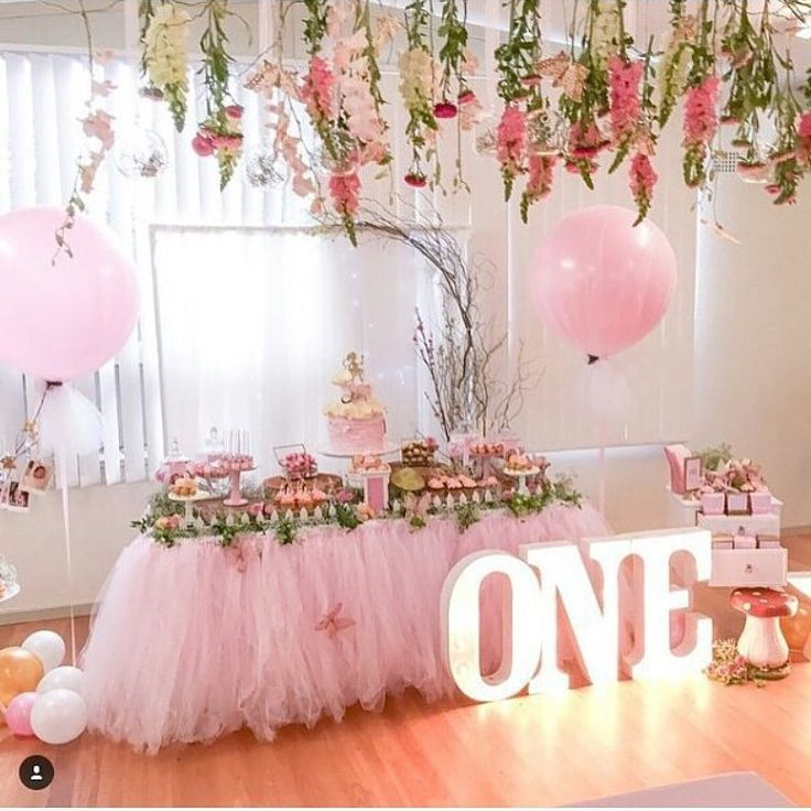 687 best 1st birthday theme girl images on pinterest for Baby girl birthday decoration pictures