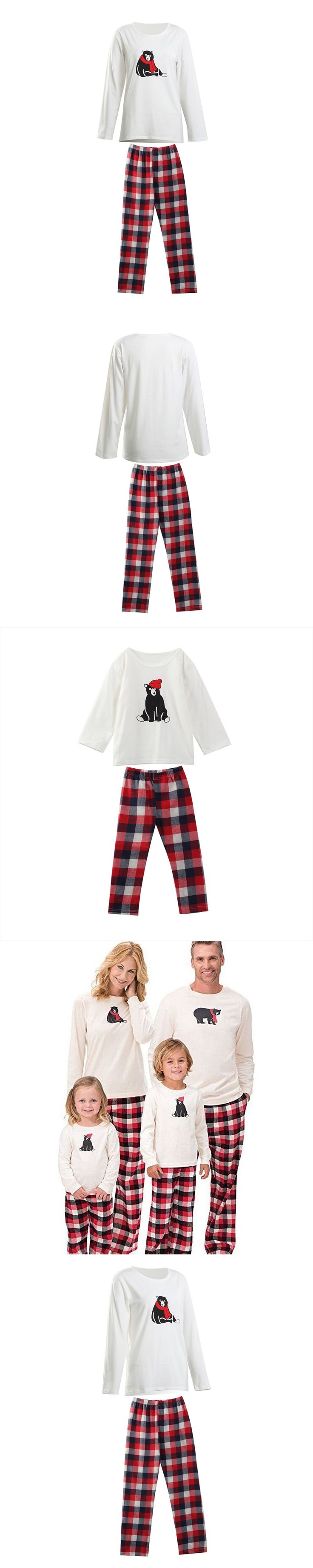 Family Matching Christmas Pajamas PJs Sets 2017 New Xmas Men Women Kid Sleepwear Nightwear Cartoon Hot Sale Family Match PJS Set