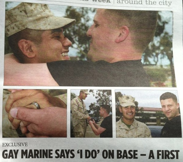 Gay Marine Accepts Marriage Proposal On Military Base After Mission In Afghanistan!
