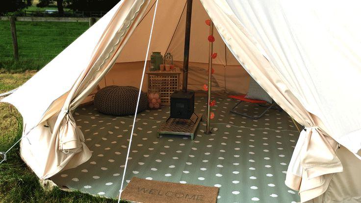 Glawning Polka Green Bell Tent Matting And Flooring
