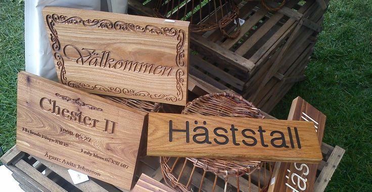 Wood Signs (Träskyltar) from hastohem.se