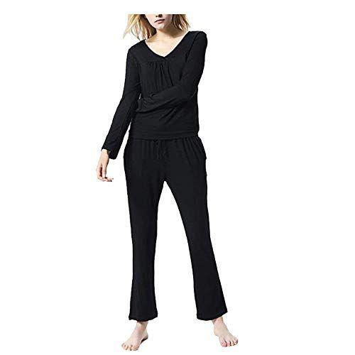 Laisla fashion Pyjama Damen Elastische Taille Seit…