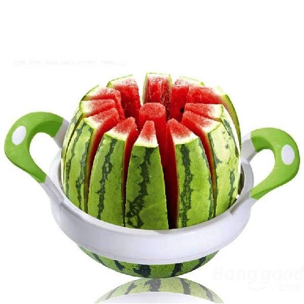 28CM Large Watermelon Cutter Slicer Stainless Steel Fruit Perfect Corer Slicer Kitchen Tools at Banggood
