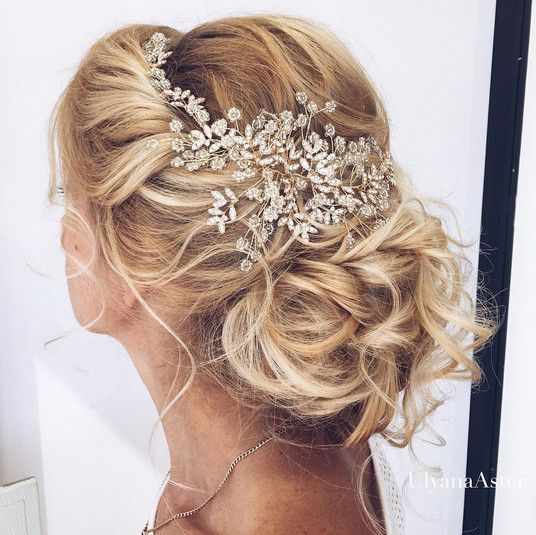 Elegant Wedding Hairstyles With Headpieces - These exquisite headpieces are all too perfect for the elegant bride-to-be. Going for classic yet standout beauty on your big day? Look no further for all the ornate, decorative bridal headpiece inspo you could ask for. - Photos