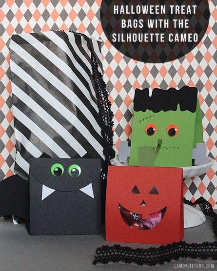 Spooky Halloween Treat Bags Tutorial #halloween #craft