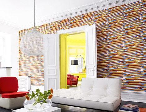 20 salones comedores modernos decorados con papel pintado