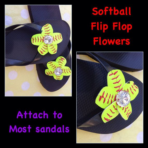 Softball Flip Flop Flowers  Softball Mom   by HandmadesByCherie, $16.00
