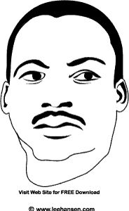 Printable MLK Coloring Page Free Picture Of Reverend Dr Martin Luther King Jr To Print And Color