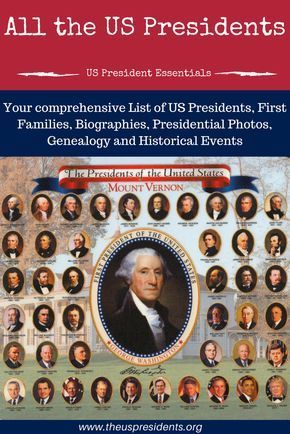 US Presidents   Get your comprehensive list of All US Presidents, First Families, Biographies, Presidential Photos and Historical Events.
