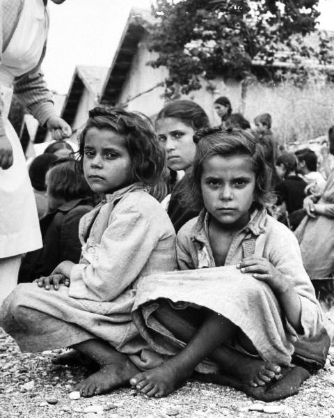 Northern Greek orphans being transported to Rhodes under the care of the Greek Red Cross greek civil war 1948