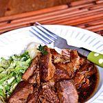 Rôti d'épaule de porc à l'ail (mijoteuse)