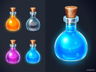 Dribbble - Potions by Victor Soto