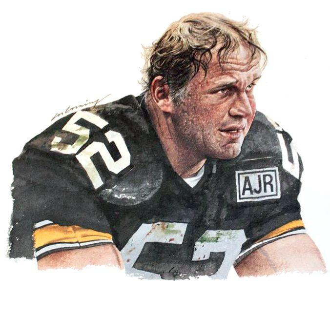 Mike Webster, Pittsburgh Steelers by Merv Corning