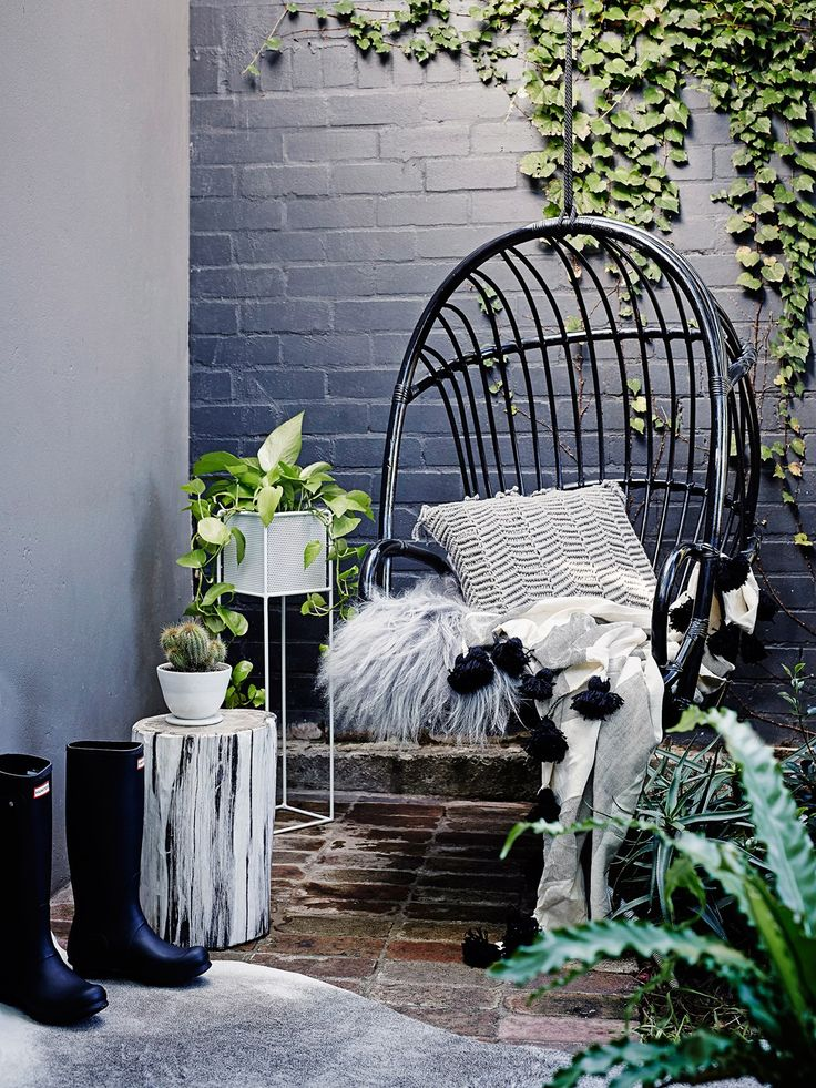 [Make your outdoor space Winter proof](http://www.homestolove.com.au/9-ways-to-bring-your-outdoor-space-to-life-3557) by adding shaggy blankets, cushions and throws. *Photo: Brett Stevens / Bauersyndication.com.au*