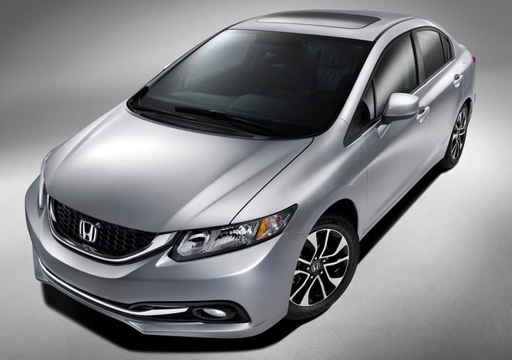 2013 Honda Civic Sedan With Diesel Engine Option.