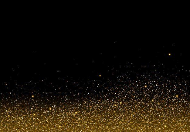 Textura De Glitter Dourado Em Fundo Preto Con Imagenes Fondos
