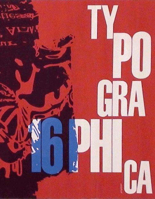 AIAP - Franco Grignani - Typographica 16 - Copertina della rivista