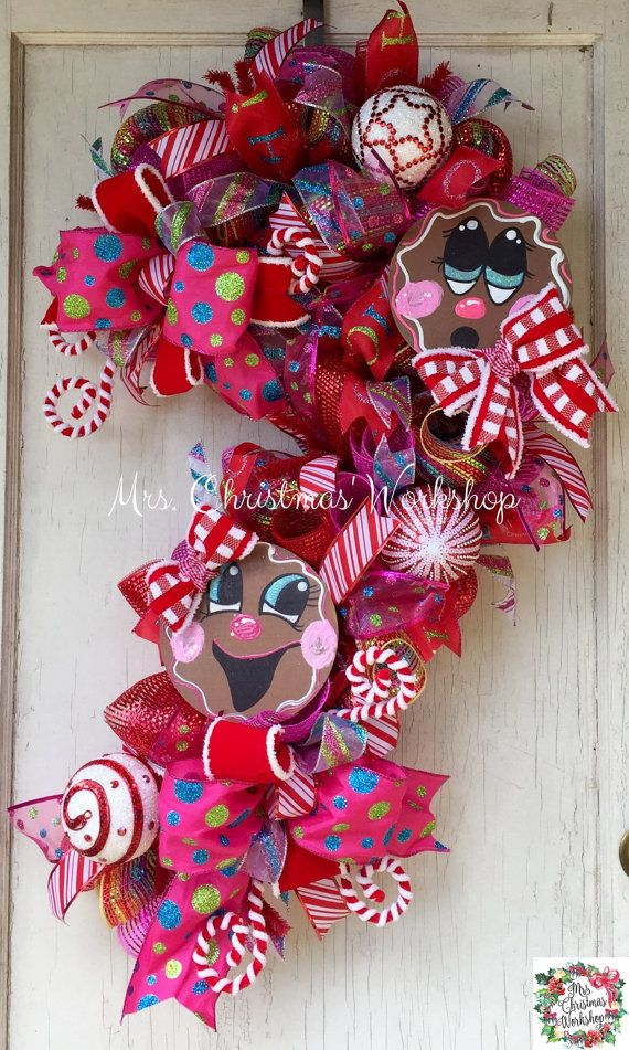 25 best ideas about candy wreath on pinterest snowflake for Craft wreaths for sale