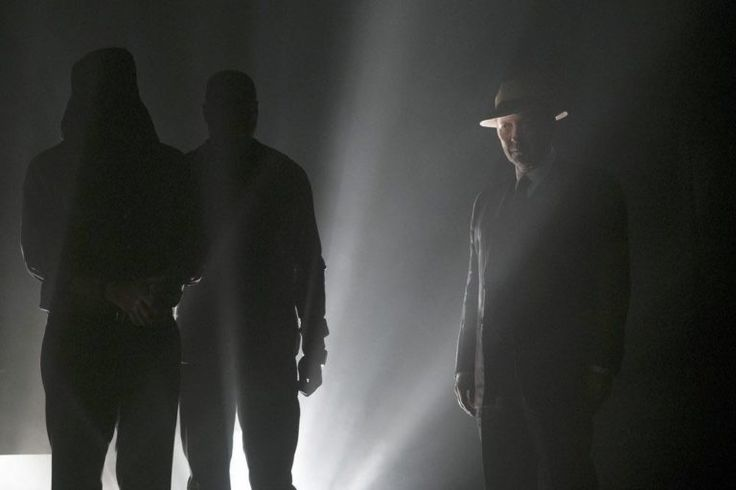 "THE BLACKLIST -- ""Gaia: #81"" Episode 404 -- Pictured: (l-r) Matt Servitto as Dr. Sebastian Reifler, Hisham Tawfiq as Dembe Zuma, James Spader as Raymond ""Red"" Reddington -- (Photo by: Virginia Sherwood/NBC)"
