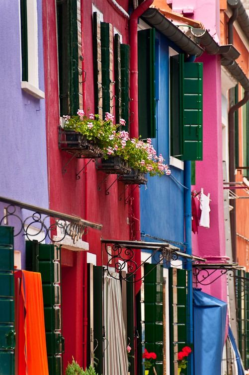 Colours of Burano, Venice, Italy