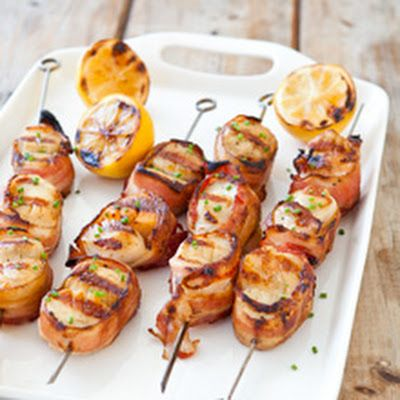 Grilled Bacon-Wrapped Scallops | Recipe | Read more ...