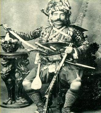 Ottoman zeibek (zeybek, ziebek) irregular soldiers.