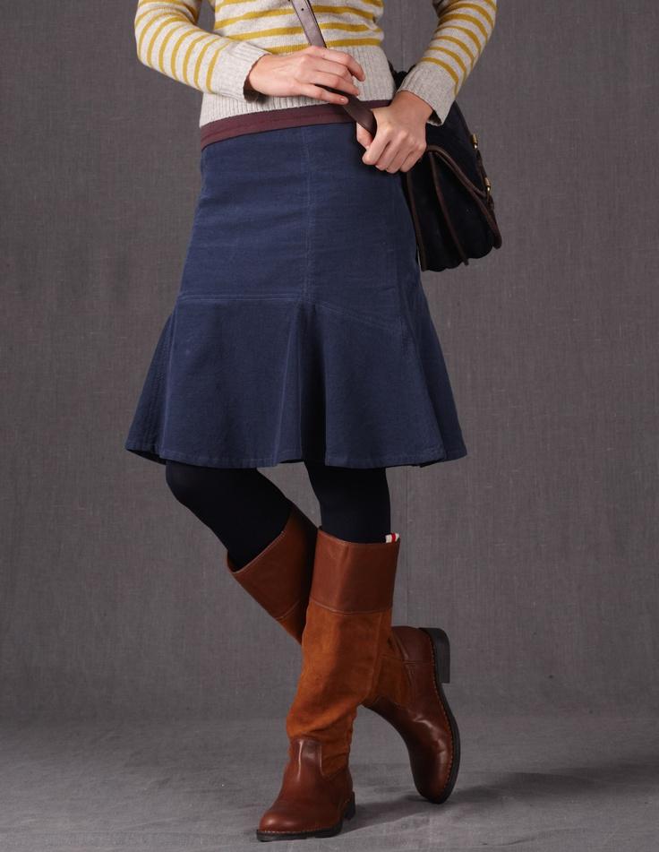 Flippy Cord Skirt