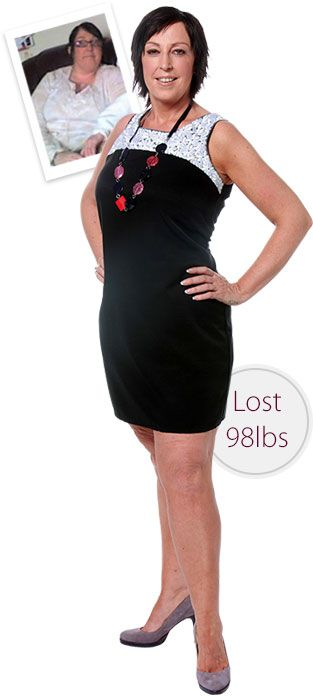 Suzanne lost 98 lbs with Diet Chef!  Inspirational weight loss