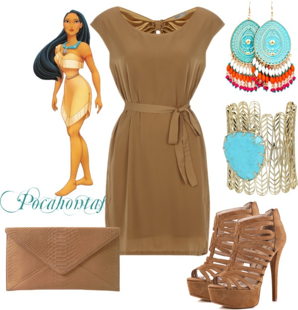 """Pocahontas Disney Princess Prom Outfit"" by natihasi on Polyvore"