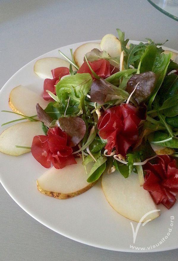 Bresaola and pear salad.