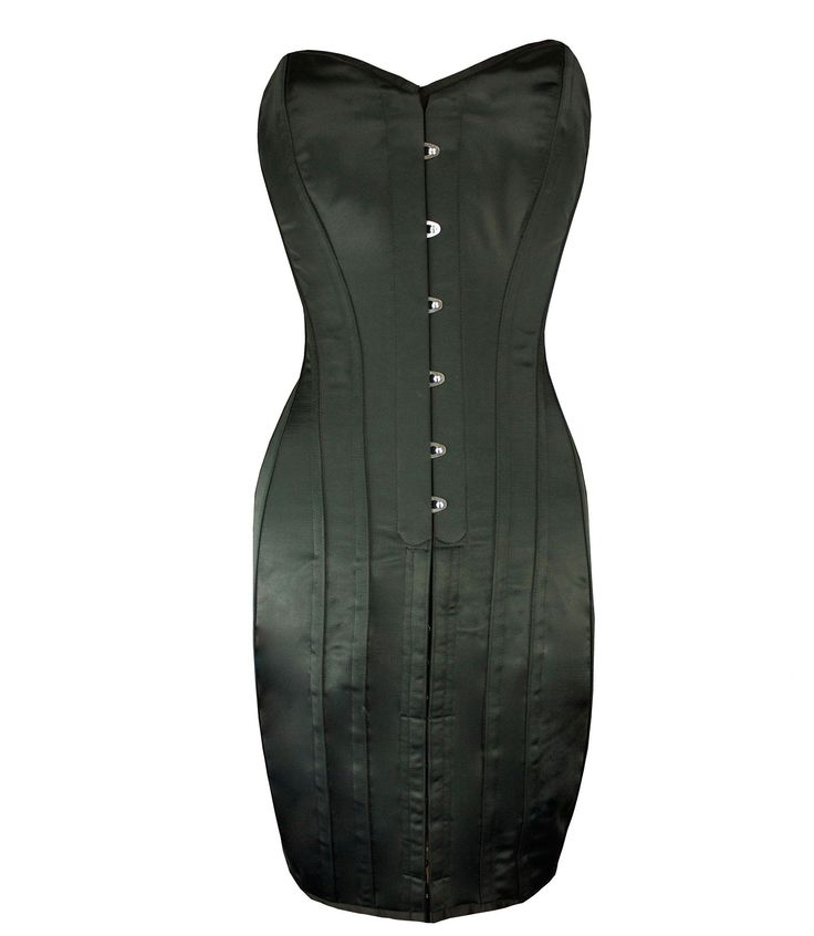 Toxic Black Satin Corset Dress by Vollers Corsets