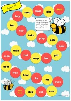 A fun A3 rhyming board game. Great for fast finishers or literacy rotations.