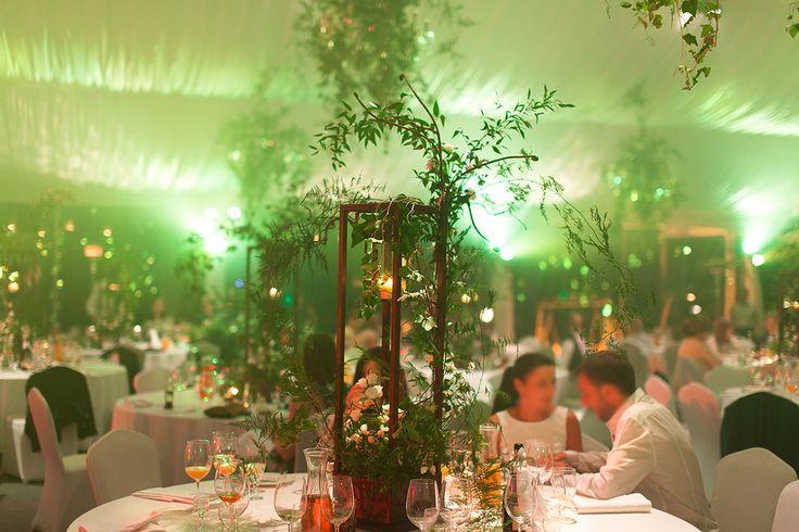 Wild Green Garden Wedding Reception in 19th century Rozalin Palace - combination of classic elegance with twist of wild green. Poland, by artsize.pl