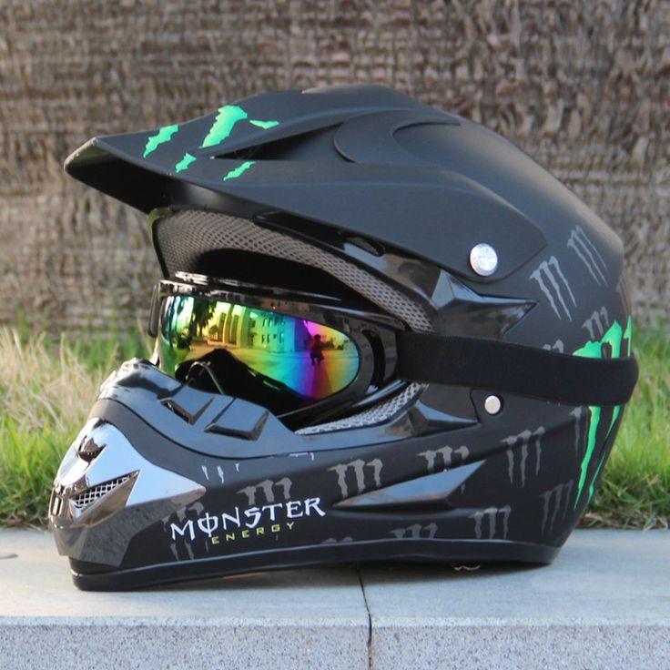 Free Shipping Adult Motocross MX Motocross Helmet Off-Road + Goggles ~S M L XL XXL